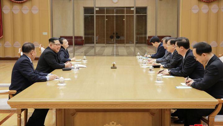 """Sonnenscheinpolitik: Kim Jong Un will """"neue Geschichte der Wiedervereinigung"""" schreiben"""