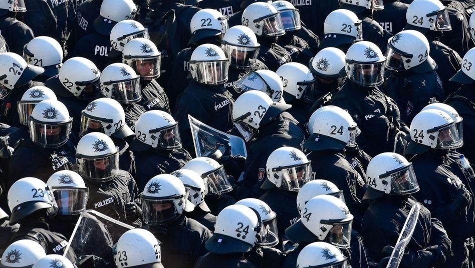 Polizisten im G20-Einsatz