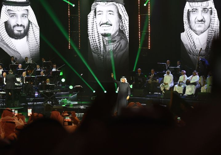 Sänger Mohammed Abdu bei einer Musikveranstaltung in Riad