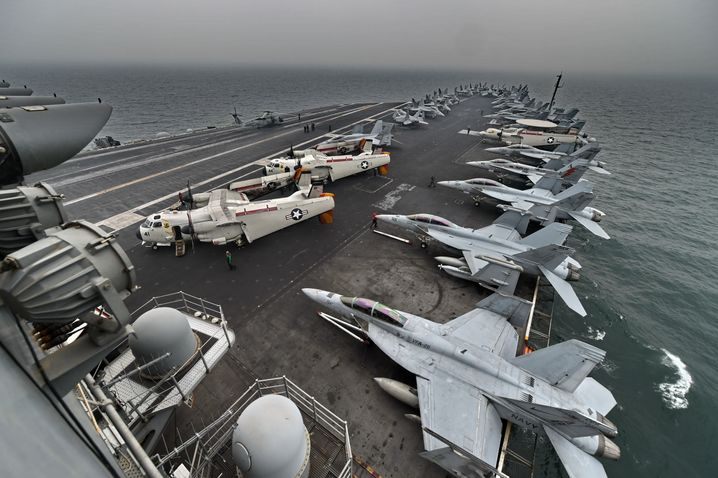 "The aircraft carrier USS Theodore Roosevelt : ""Why the hell"" did we intervene in Libya? ""That's beyond stupid."""