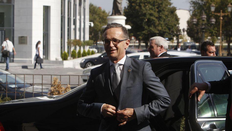Außenminister Heiko Maas (SPD) beim Besuch in Skopje
