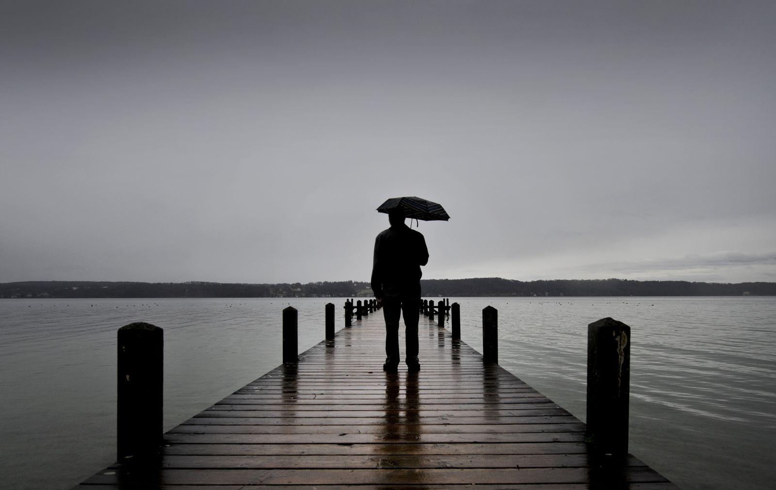 SYMBOLBILD Regen/ Mensch