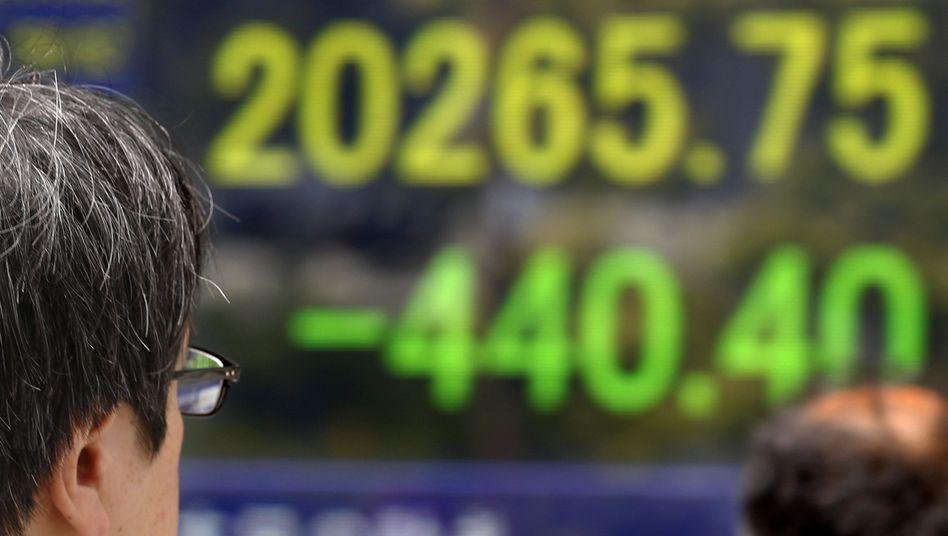 Börse in Tokio: Verluste zum Wochenstart