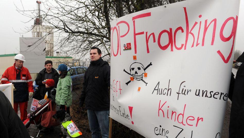 Fracking-Gegner im Emsland (Archivbild von 2011): Vom Kreml gesteuert?