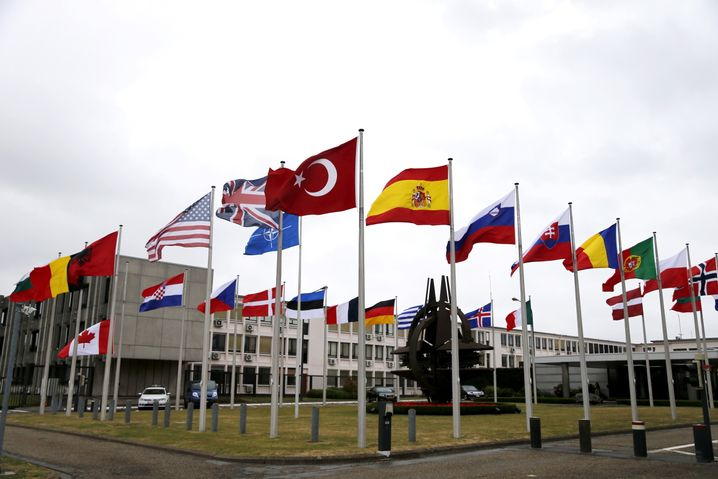 "NATO headquarters in Brussels: ""informal and off-the-record"" discussions."