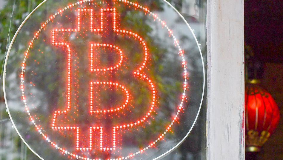 Bitcoin-Logo in Berlin-Kreuzberg