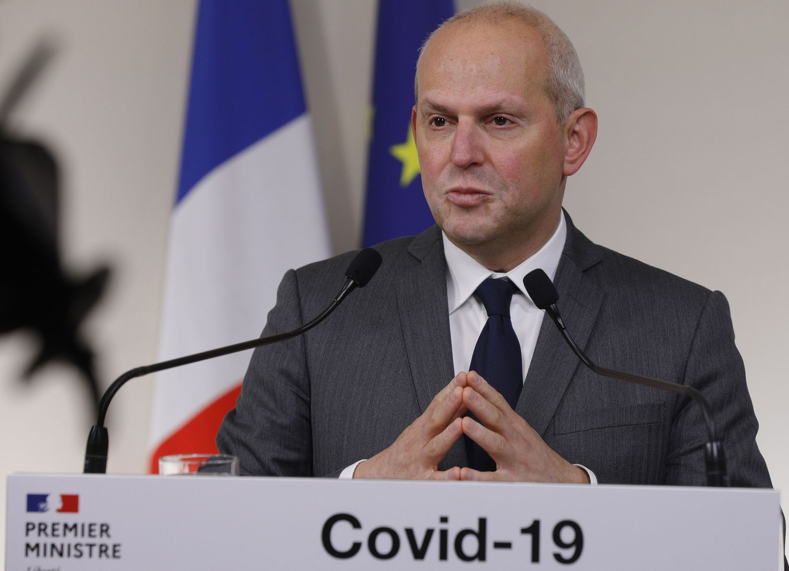French governbment press conference on Coronavirus Covid-19 crisis, Paris, France - 28 Mar 2020