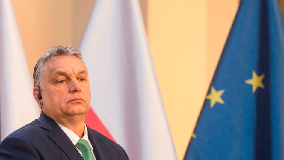 Ungarns Premier Orbán: In einem Brief soll er sich an den EVP-Fraktionsvorsitzenden Manfred Weber gewendet haben