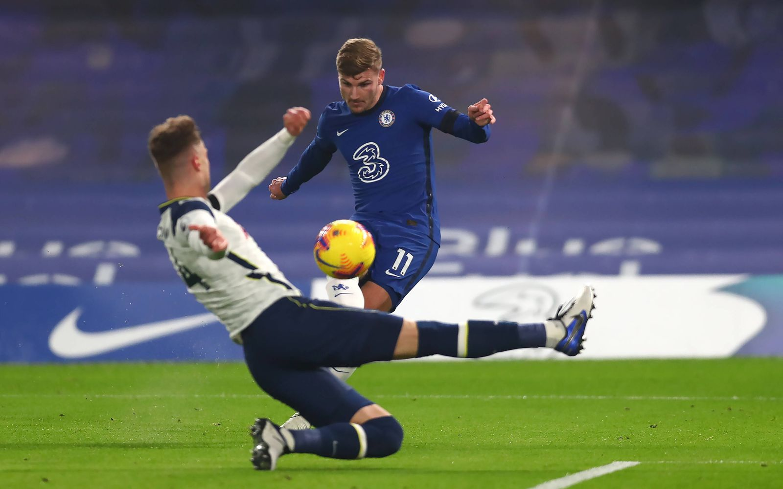 Chelsea v Tottenham Hotspur - Premier League - Stamford Bridge Chelsea s Timo Werner converts but the goal is ruled out