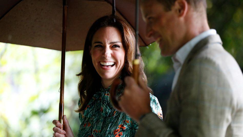 Da konnten sie vielleicht schon wieder darüber lachen: William und Catherine im August 2017