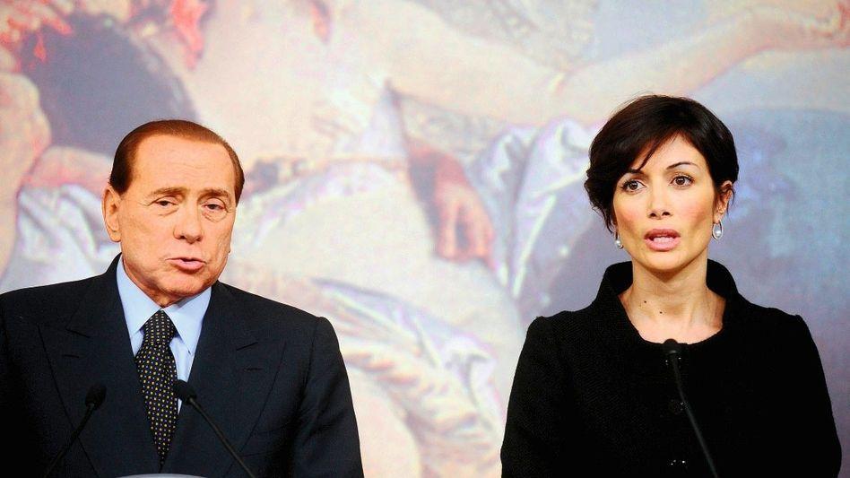 Premierminister Berlusconi, Ministerin Carfagna 2009