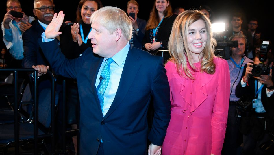 Boris Johnson und seine Verlobte Carrie Symonds