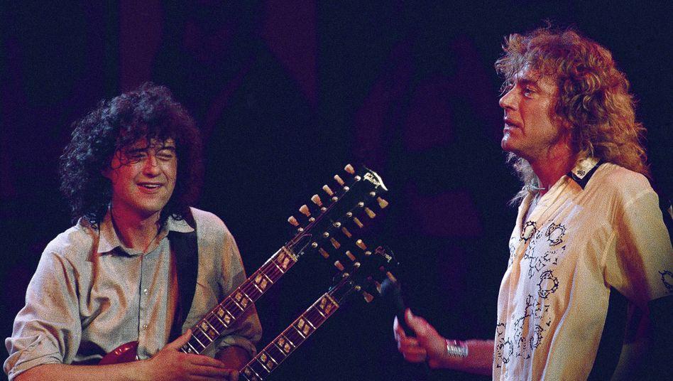 Jimmy Page und Robert Plant (1988)
