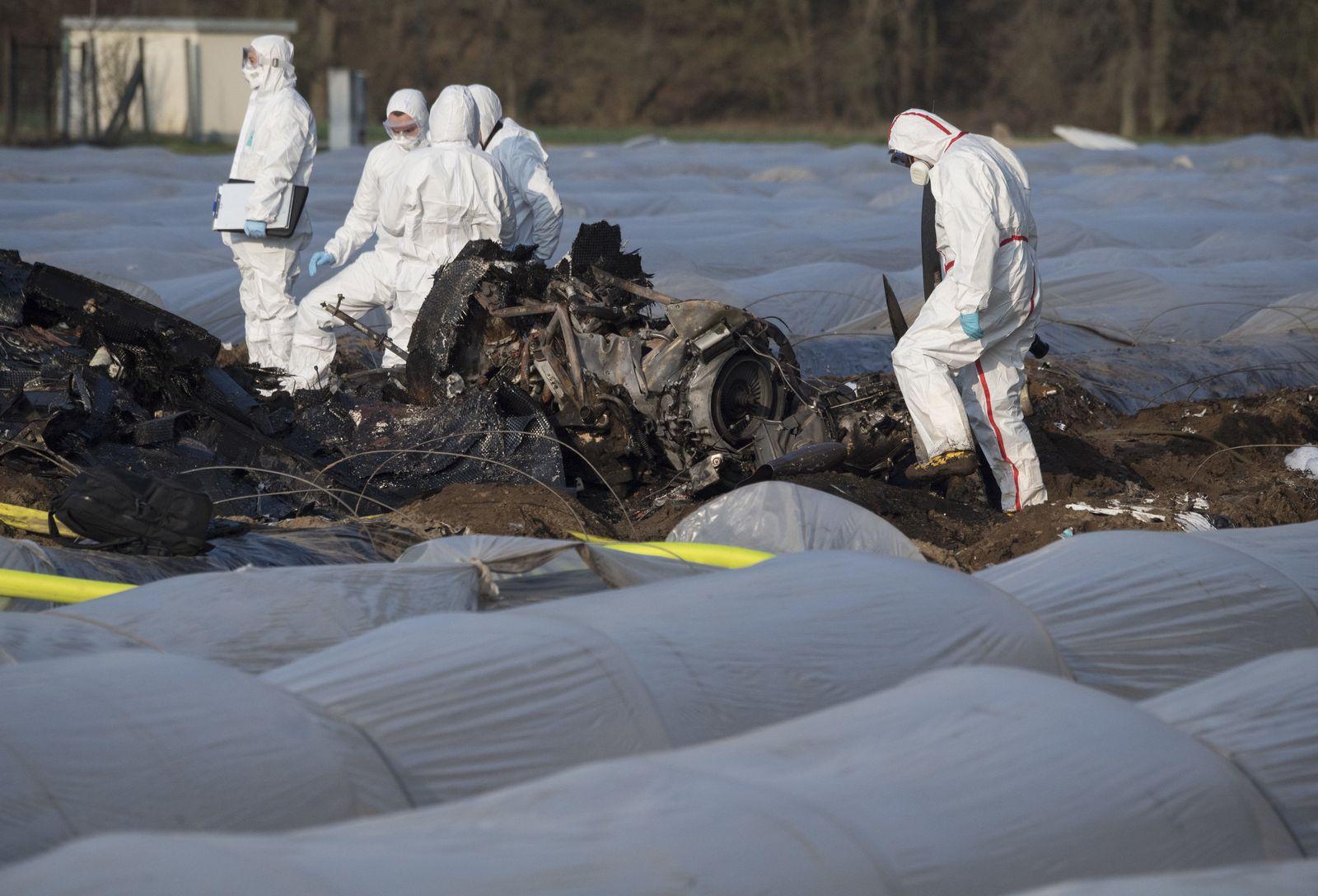 Tödlicher Flugzeugabsturz in Hessen
