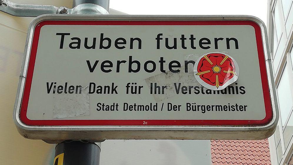 Schild in Detmold