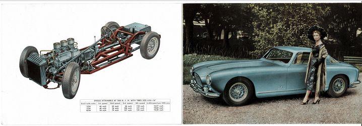 Der Ferrari-Prospekt aus dem Jahr 1954