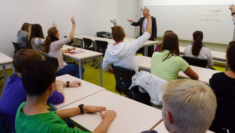 Unterricht in einer 10. Klasse in Pforzheim (Baden-Württemberg)