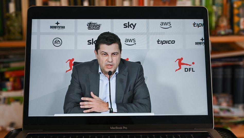 """DFL-Geschäftsführer Christian Seifert bei der virtuellen Pressekonferenz: """"Ich glaube wirklich, dass die Liga sehr, sehr eng zusammensteht"""""""