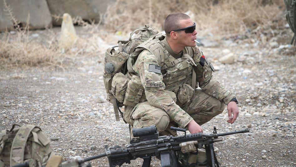 US-Soldat in Afghanistan (Archivfoto): Luftangriffe wieder verstärkt