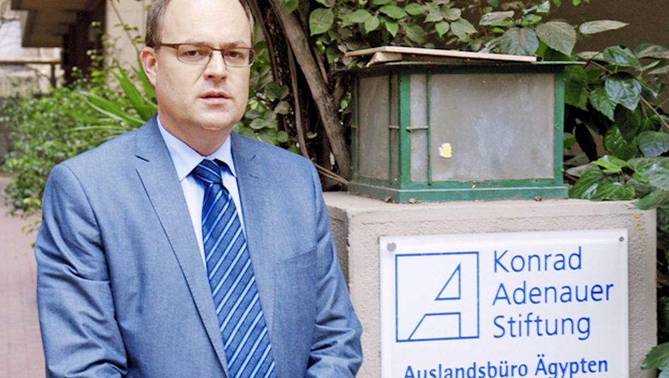 Konrad Adenauer Foundation Cairo office chief Andreas Jacobs spent hours being questioned by an investigative judge.