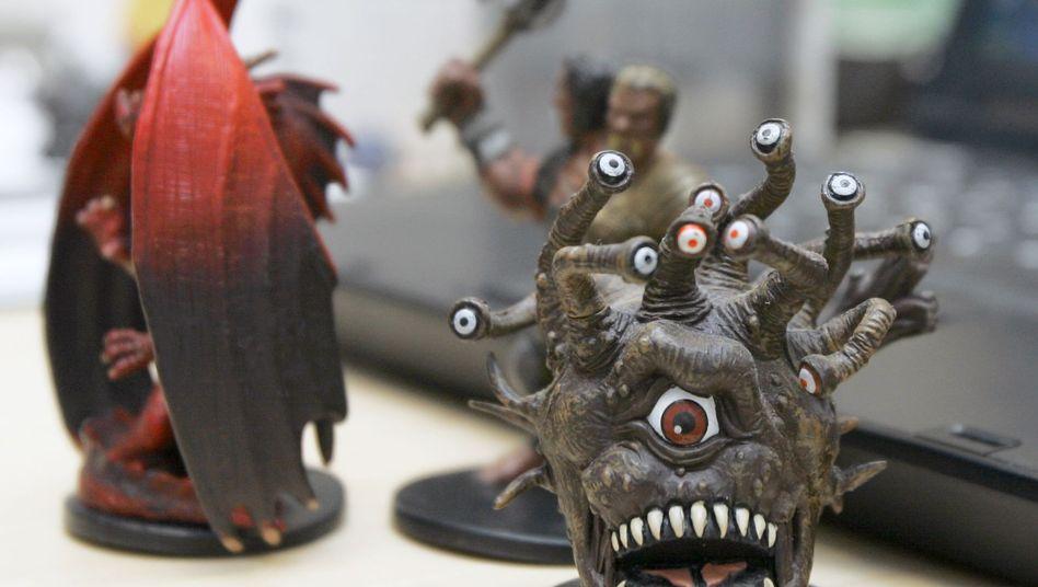"""Figur aus Rollenspiel """"Dungeons & Dragons"""": Fokus auf die Augen"""