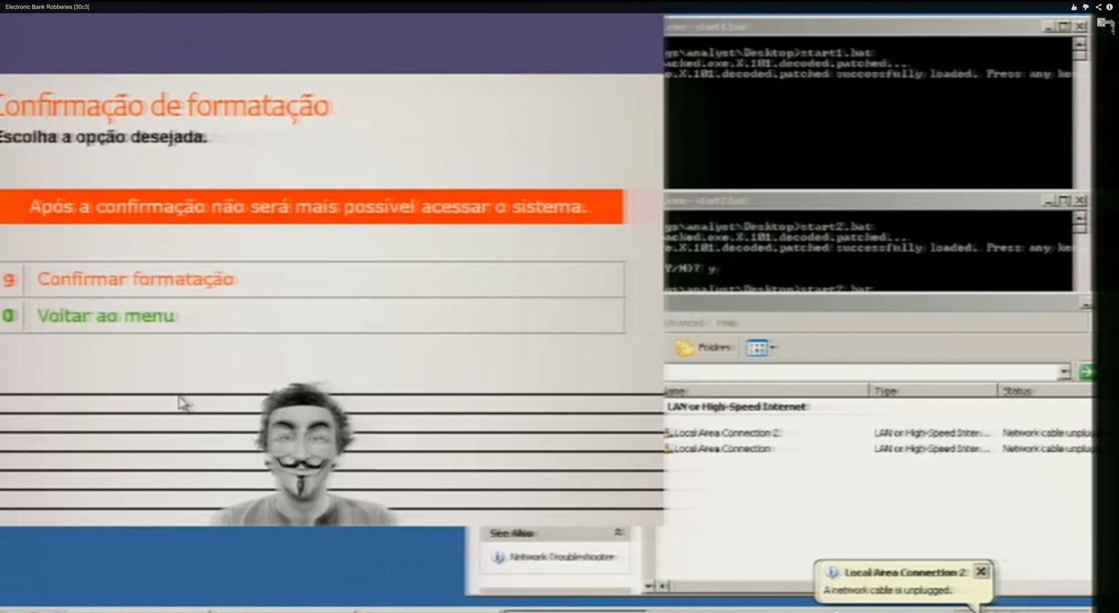 EINMALIGE VERWENDUNG NUR ALS ZITAT Screenshot/ Elektronischer Bankraub