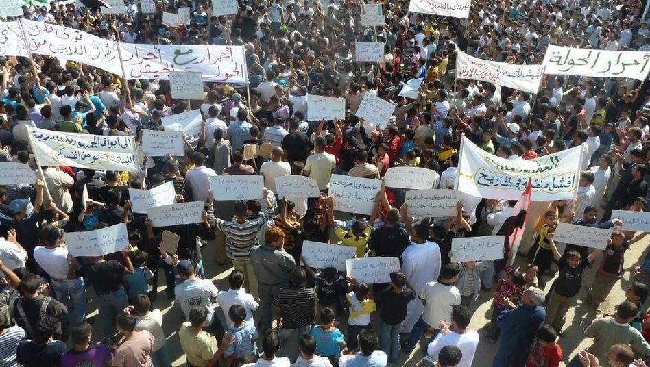 Demonstranten im syrischen Hula: Folter von Regimegegnern in Krankenhäusern