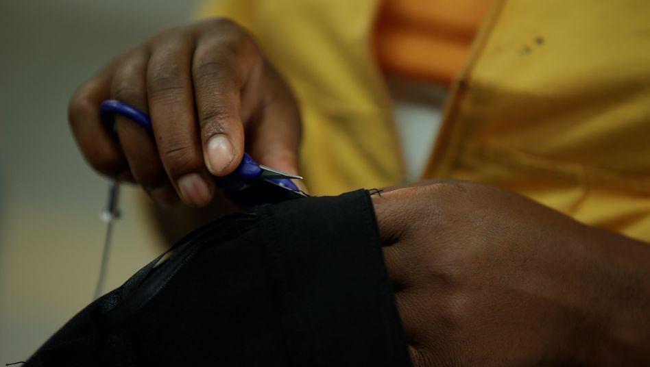 Textilarbeit in Äthiopien