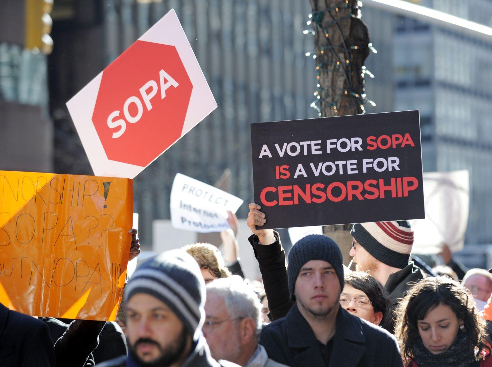 SOPA / Protest / Internetzensur