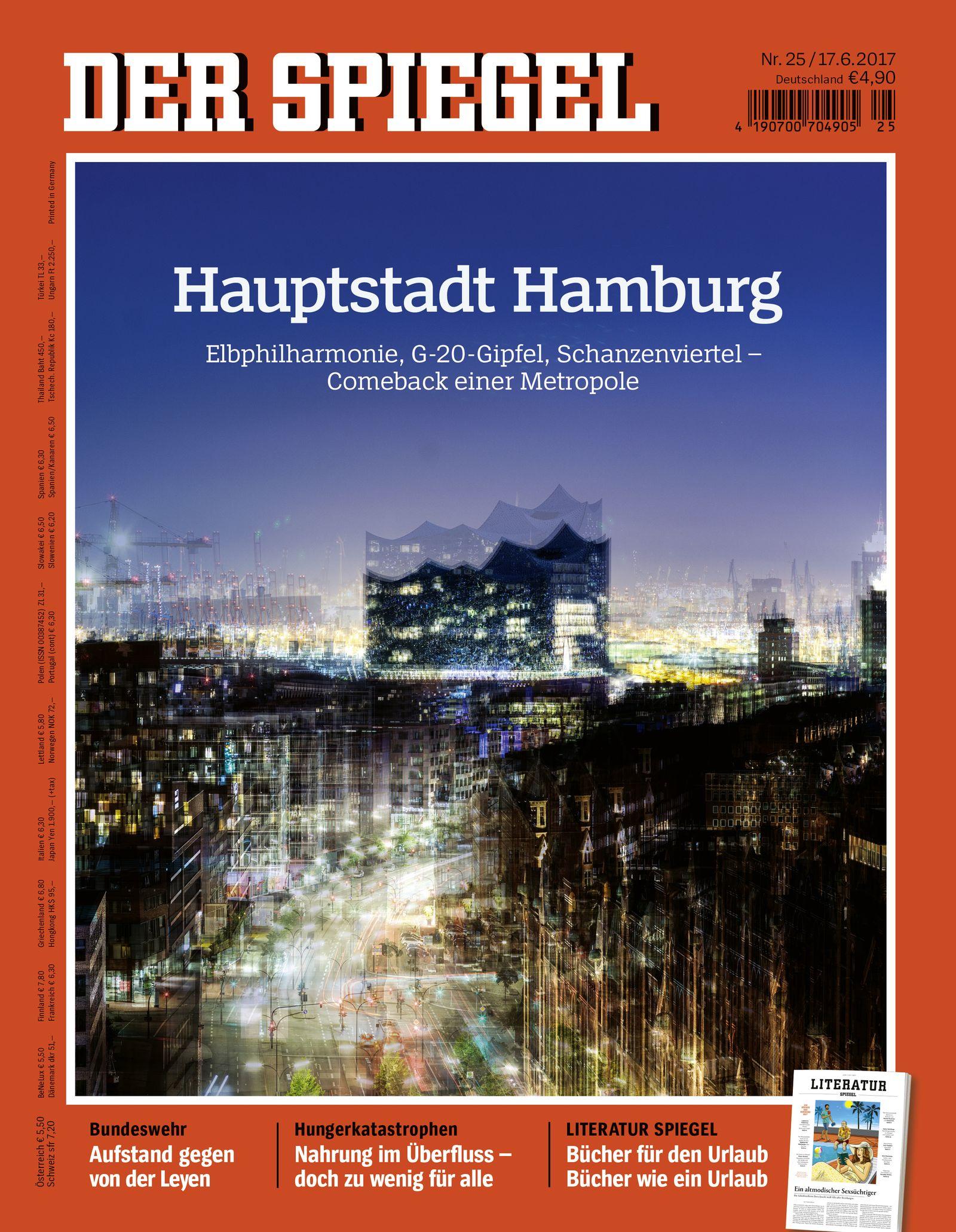 EINMALIGE VERWENDUNG Hamburg Titelbild SPIEGEL 25/2017