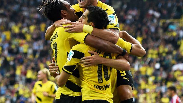 Dortmunds Sieg im Supercup: Jubeln mit Spiderman
