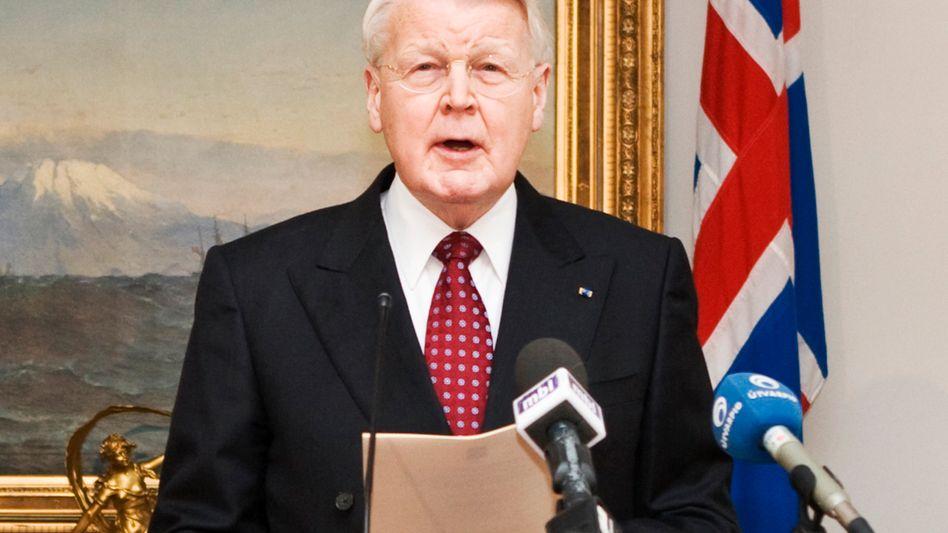 Präsident Grímsson: Die Summe entspricht fast 40 Prozent des Bruttoinlandsprodukts
