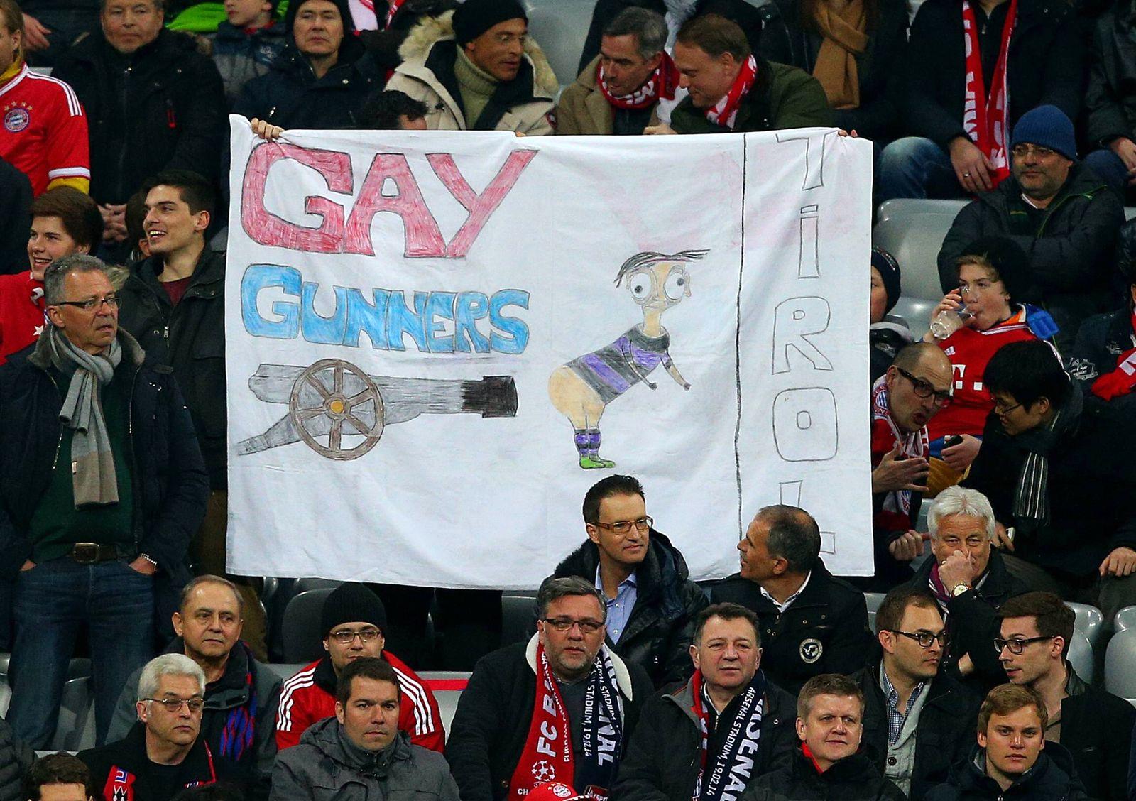 EINMALIGE VERWENDUNG Bayern München/ Banner/ Gay Gunners