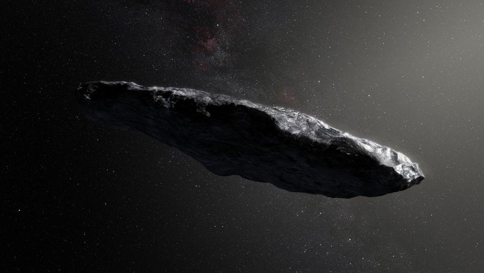 """""""Oumuamua"""" (künstlerische Darstellung)"""