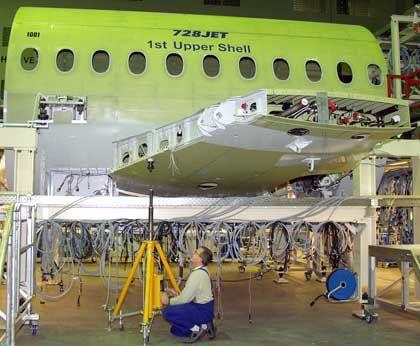 Regionaljet mit dem Komfort eines Großen: Fairchild Dornier-Produktion