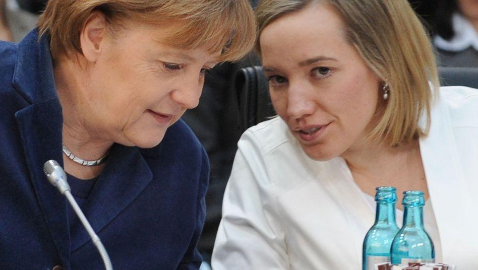 Both Chancellor Merkel and Family Minister Schröder oppose EU-wide gender quotas.