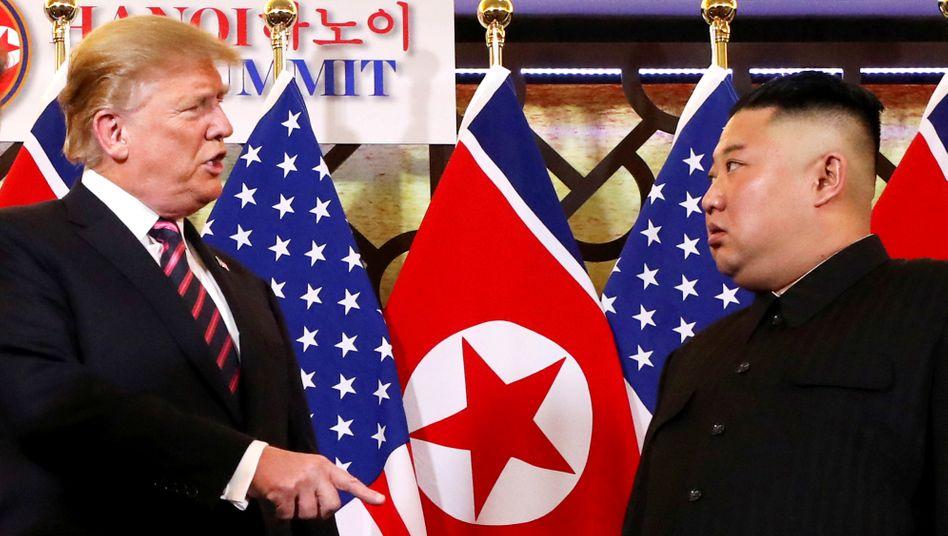Donald Trump und Kim Jong Un (in Hanoi im Februar 2019)