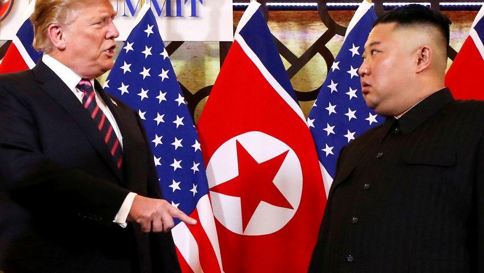 Donald Trump spricht mit Kim Jong Un