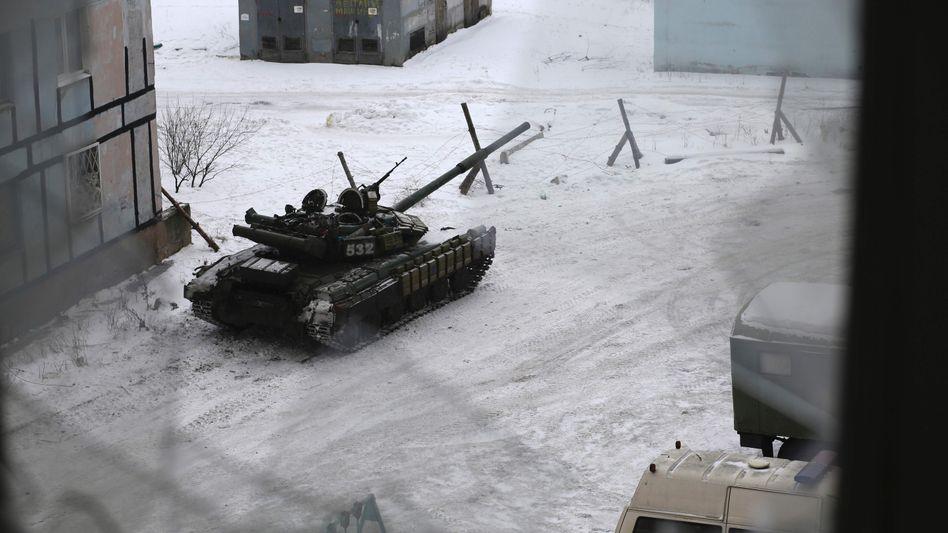 Panzer der ukrainischen Armee in Awdijiwka