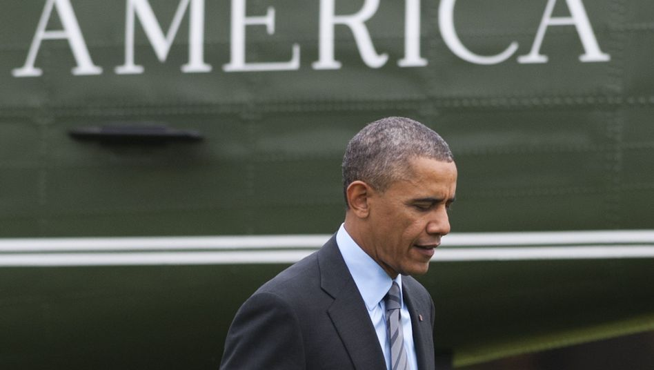 Germans' approval of President Barack Obama has dropped from 75 to 43 percent over the past year.
