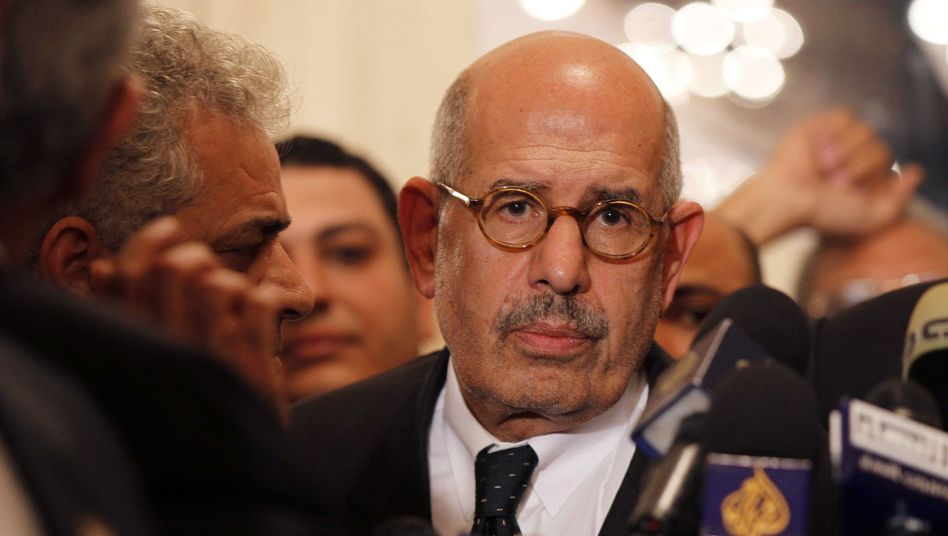 Mohamed ElBaradei is the former head of the International Atomic Energy Agency, for which he won the Nobel Peace Prize. He has been active in Egyptian politics since then.