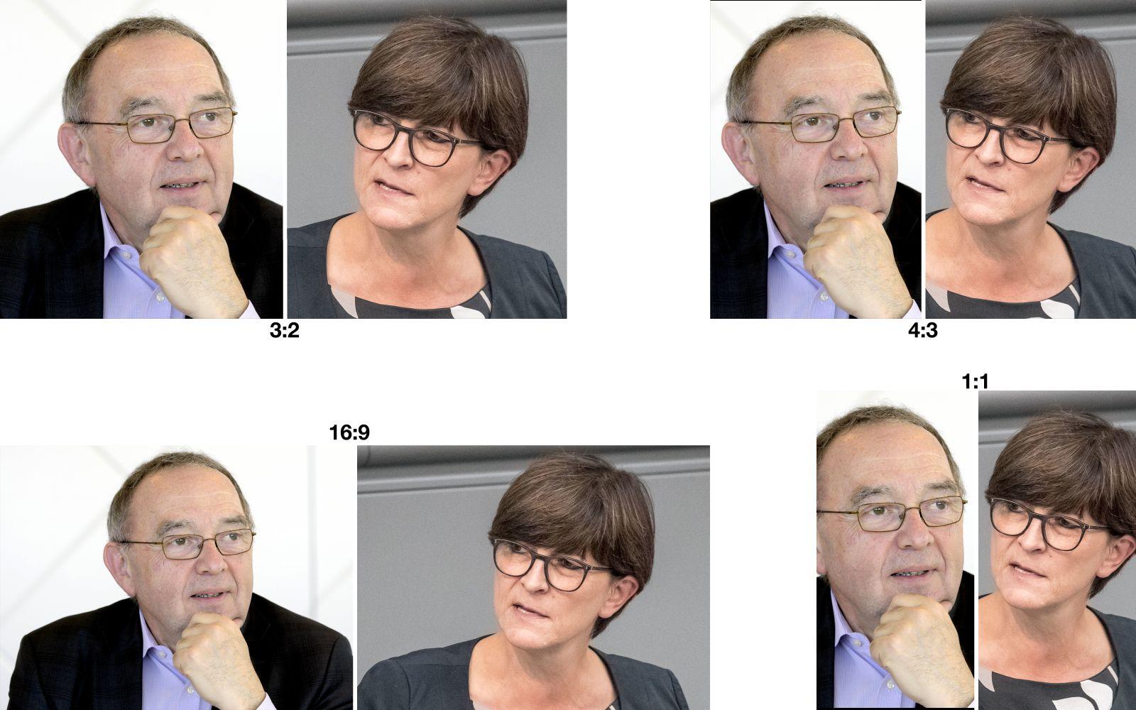 EINMALIGE VERWENDUNG Kombo Saskia Esken Norbert Walter-Borjans