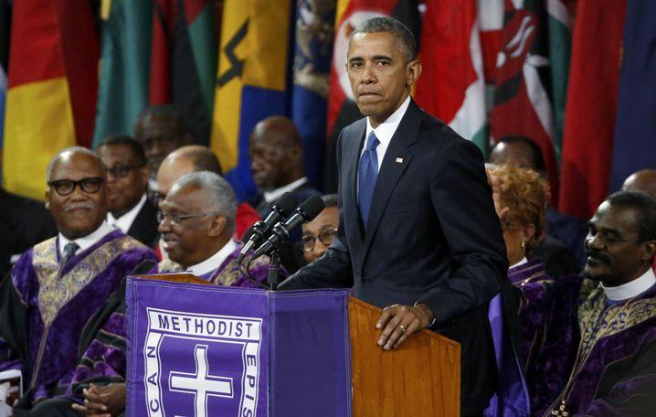 Obama in Charleston: Erhebender Moment