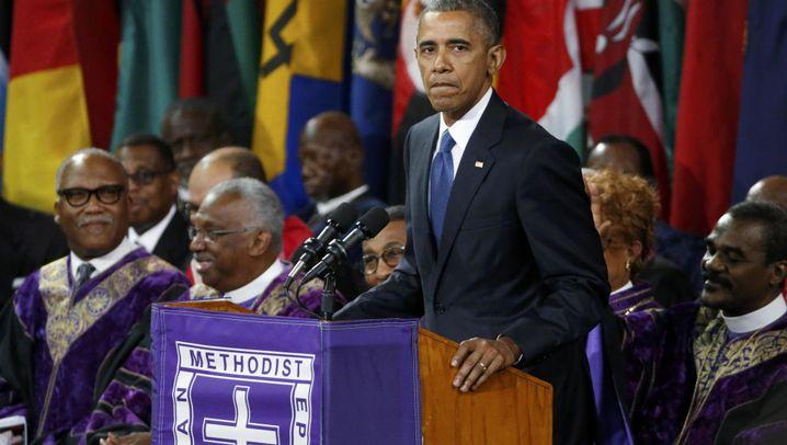Trauerfeier in Charleston: Obama nimmt Abschied