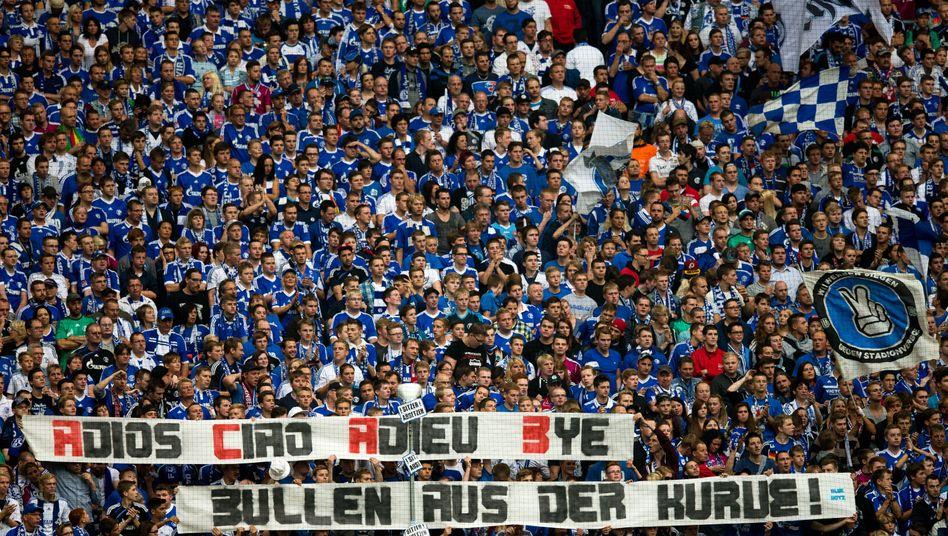 """Schalke-Fans: """"Wir haben friedlich ein Zeichen gesetzt"""""""