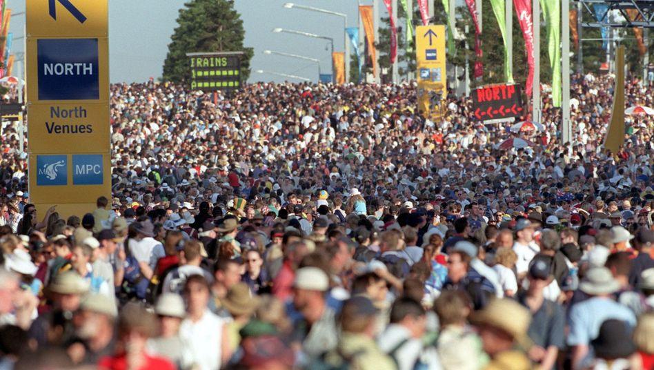"""Menschenmasse (bei den Olympischen Spielen in Sydney): """"Meinungsspektrum kultivieren"""""""