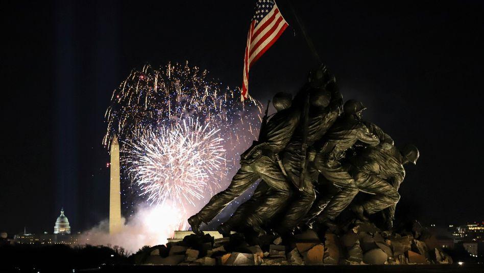 Washington am Abend von Bidens Amtseinführung: Hoffnung auf bessere Zeiten