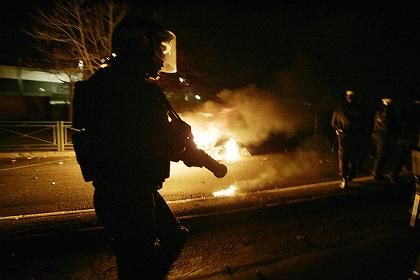 Burning cars have become a nightly phenomenon in Paris.