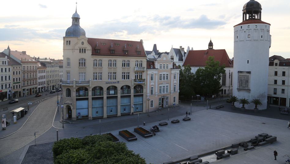 Marienplatz in Görlitz: Hier könnte demnächst der bundesweit erste AfD-Bürgermeister regieren