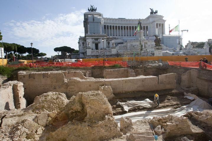 """Ausgrabungen am Athenäum (2009): """"Größter Fund in Rom seit Entdeckung des Forums"""""""